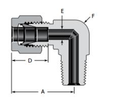 Угольники с углом 90 и с наружной конической резьбой ISO/BSP (серия RT)