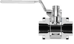 Шаровые краны для КИП с неразъемным корпусом серии 40GX из нержавеющей стали, переключающие (3-ходовые)