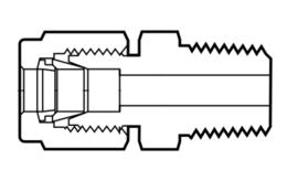 Фитинги из перфторалкокси соединители с наружной резьбой