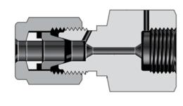 Соединения с наружной резьбой высокого давления для трубных обжимных фитингов высокого давления