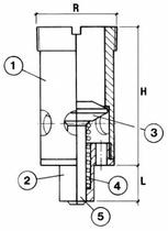 Обратный клапан CAEN CH-IT