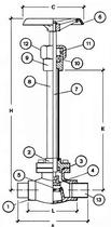 Криогенный запорный вентиль CAEN CRYO VCB 300