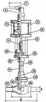 Криогенный запорный клапан CAEN CRYO VCB 300-NC