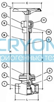 Криогенный запорный вентиль CAEN CRYO VCSS/VCBS 750