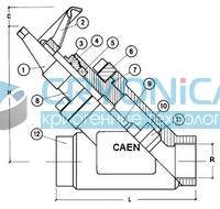 Запорный вентиль CAEN NTD FT
