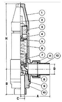 Предохранительный клапан CAEN VAS-INOX