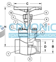 Запорный вентиль CAEN VСBS-750
