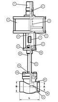 Криогенный запорный клапан CAEN CRYO VCBS-900/NC