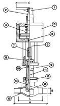 Запорный клапан CAEN VCB 1600-NC
