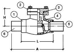Обратный клапан CAEN VCR-300