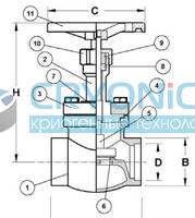 Запорный вентиль CAEN VСSS-750