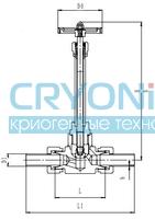Криогенный запорный клапан CCK T452DA10-25 PN160