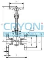 Криогенный запорный клапан CCK T217DA10-150 PN16