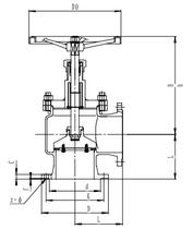 Запорный клапан CCK T121L25-300 PN6