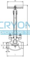 Криогенный запорный клапан CCK GLOBE DJ61F-40P