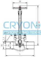 Криогенный запорный клапан CCK T328DJ50X-100X PN40