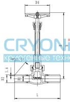Криогенный запорный клапан CCK T328DJ10X-40X PN40