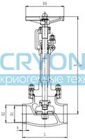 Криогенный запорный клапан CCK T326DA10-100 PN40