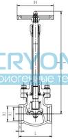 Криогенный запорный клапан CCK T328DJ50-100 PN40
