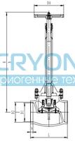 Криогенный запорный клапан CCK T355DA80-250 PN64
