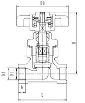 Криогенный запорный клапан CCK T358DA10-15 PN64