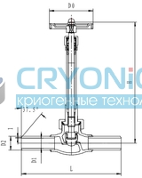 Криогенный запорный клапан CCK T328DJ10Y-40Y PN40