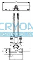 Криогенный запорный клапан CCK T551DA10-40 PN250
