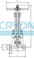 Криогенный запорный клапан CCK T651DA10-40 PN350