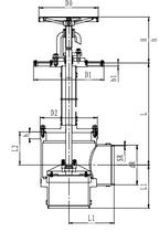 Криогенный запорный клапан угловой CCK T151DL300-500 PN10