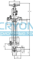 Криогенный запорный клапан блочный угловой CCK T151DL20-40 PN10