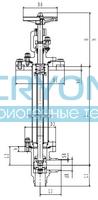 Криогенный запорный клапан угловой CCK T201DL32-40 PN16