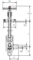 Криогенный запорный клапан угловой CCK T201DL10-15 PN16