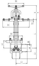 Криогенный запорный клапан угловой CCK T251DL100-150 PN25
