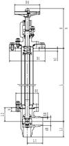 Криогенный запорный клапан угловой CCK T251DL25-40 PN25