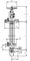Криогенный запорный клапан угловой CCK T301DL50-100 PN40