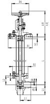 Криогенный запорный клапан угловой CCK T351DL100 PN100