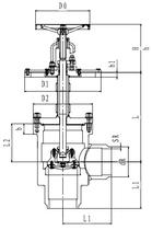 Криогенный запорный клапан угловой CCK T351DL150 PN64