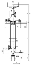 Криогенный запорный клапан угловой CCK T351DL20-40 PN64