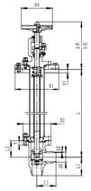 Криогенный запорный клапан угловой CCK T351DL50-80 PN64
