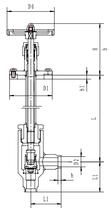 Криогенный запорный клапан угловой CCK T361DL10-15 PN64
