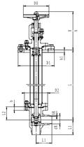 Криогенный запорный клапан угловой CCK T361DL40-80 PN64