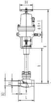 Криогенный аварийный запорный клапан CCK DJ66(2)1F-25P