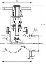 Запорный клапан CCK T201J300 PN16