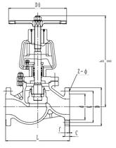 Запорный клапан CCK T251J25-80 PN25