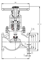 Запорный клапан CCK T302J150 PN40