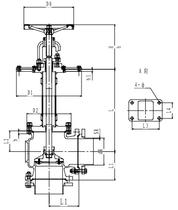 Криогенный запорный клапан угловой CCK T121DL300-350 PN6