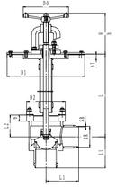 Криогенный запорный клапан угловой CCK T151DB125-200 PN10