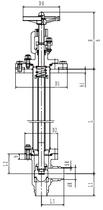Криогенный запорный клапан угловой CCK T361DL20-40 PN10