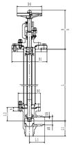 Криогенный запорный клапан угловой CCK T151DB50-100 PN10