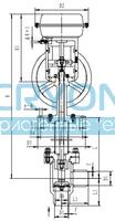 Криогенный запорный клапан типа T151QDL20-250 с пневматическим приводом
